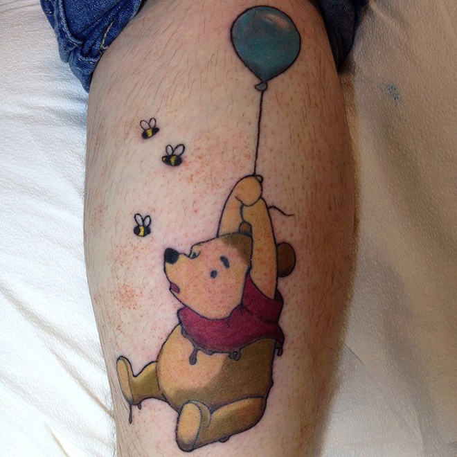 Pooh Dipped in Mud