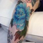 Pretty Blue Peony Flower