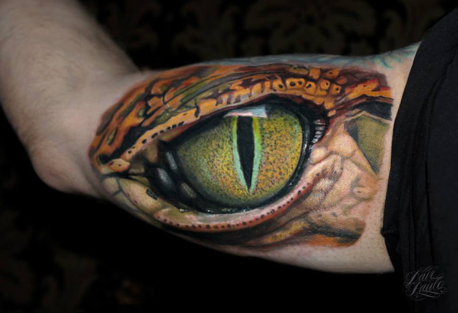 Reptile Eye Inner Bicep Best Tattoo Ideas amp Designs