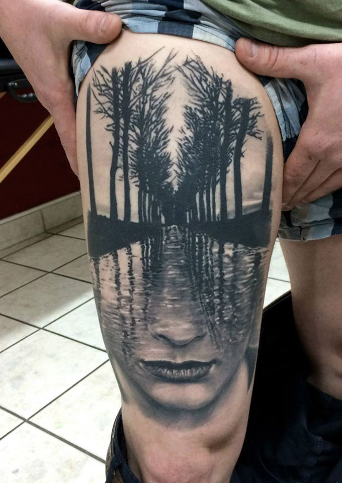 Face, water & trees