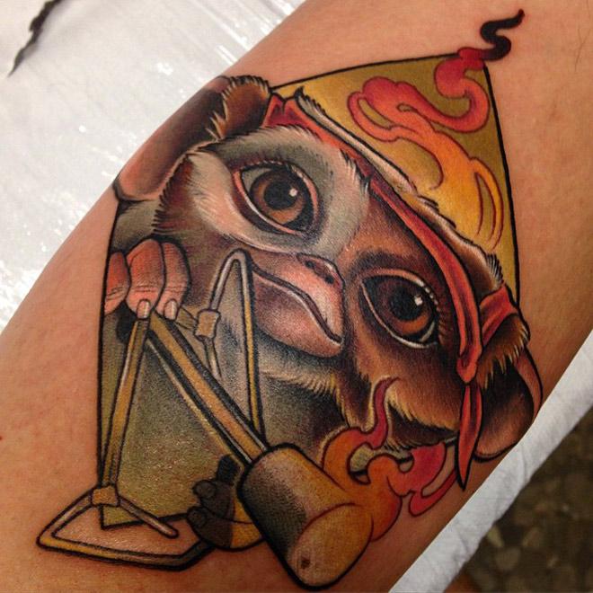 Gizmo Rambo Tattoo