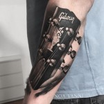 Guitar Head Tattoo