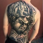 Japanese Sculpture Back Tattoo