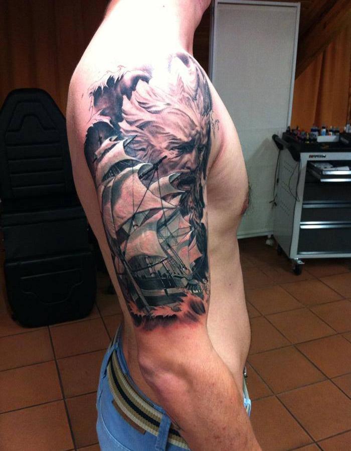 Poseidon Tattoo Best Tattoo Design Ideas