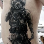 Vintage Diver Tattoo
