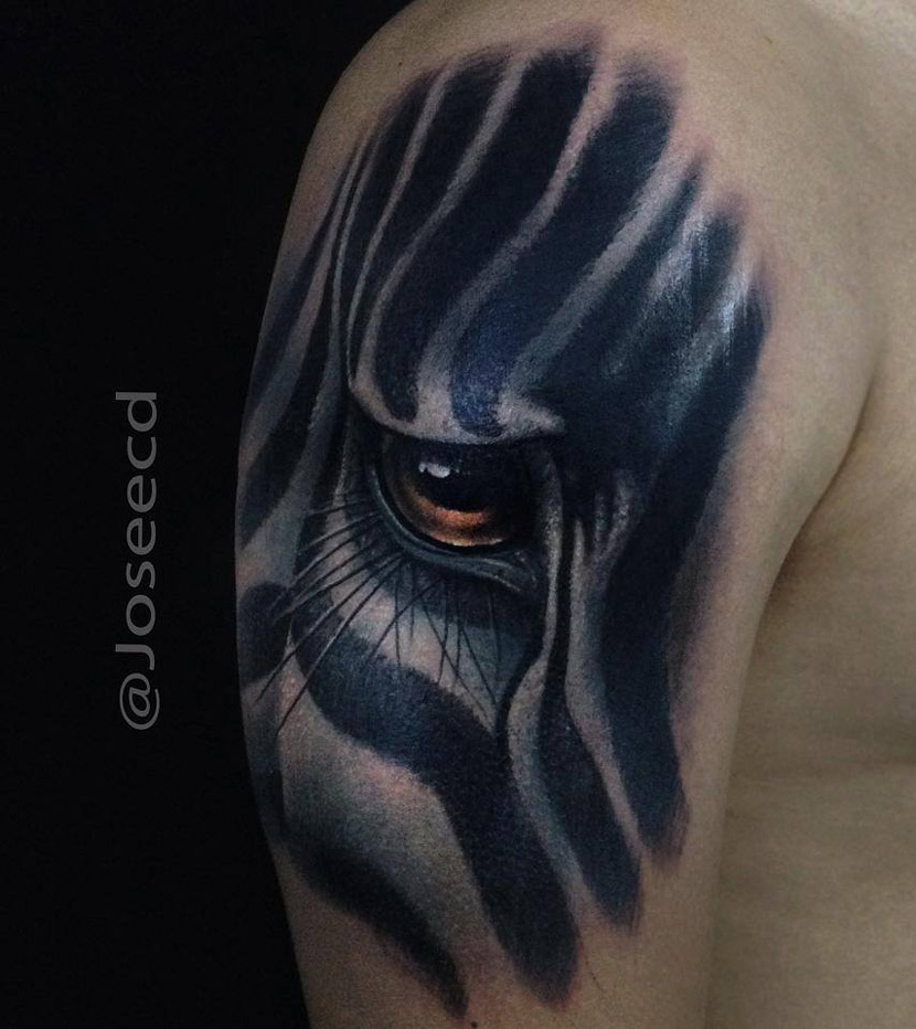 Zebra Eye Tattoo