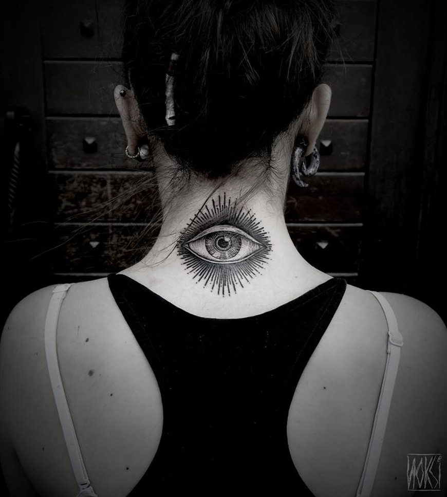 Eye Neck Tattoo
