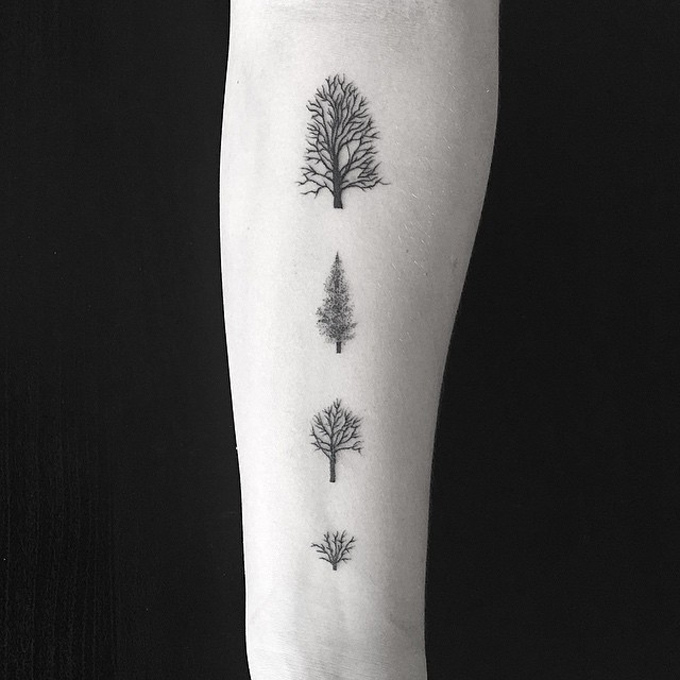 Four Little Trees