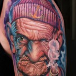 Old Man Sailor Tattoo