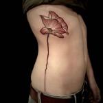 Poppy Side Tattoo