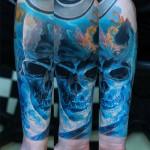 Blue Skull Sleeve