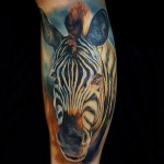 Realistic Zebra Tattoo