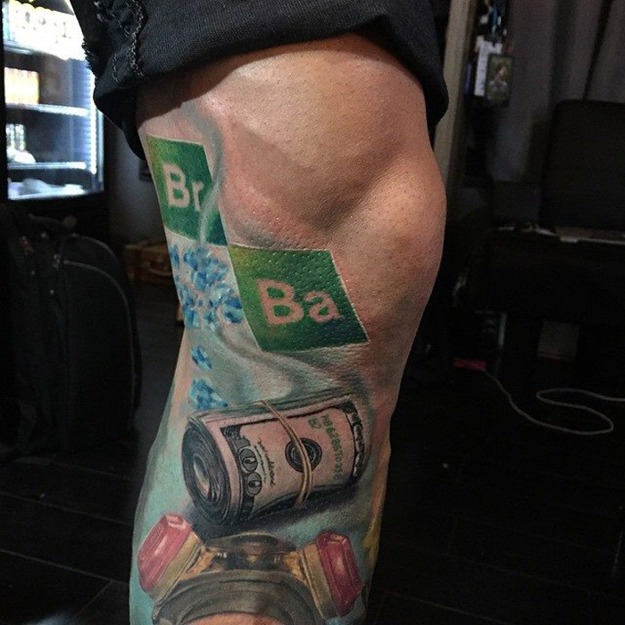 Breaking Bad Leg Tattoo