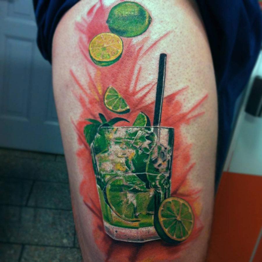 Caipirinha Cocktail Tattoo