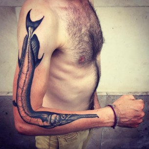 Garfish Tattoo