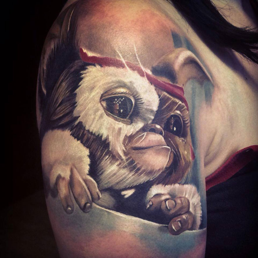 Cute Gizmo Arm Tattoo
