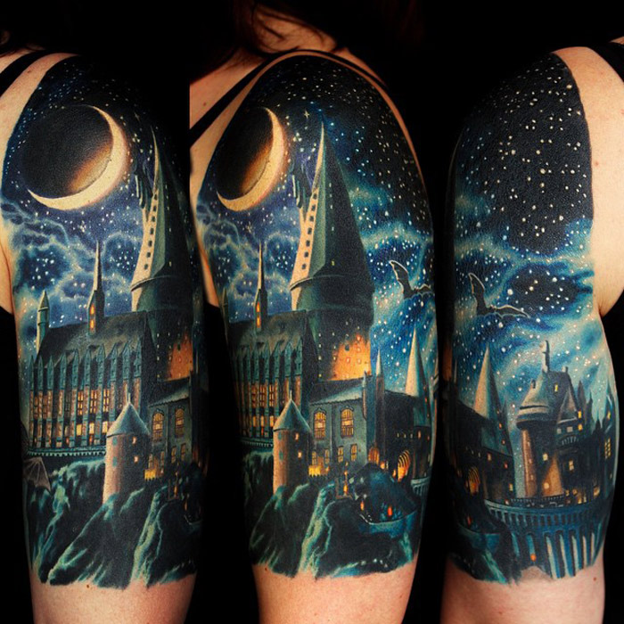 hogwarts school tattoo best tattoo design ideas. Black Bedroom Furniture Sets. Home Design Ideas