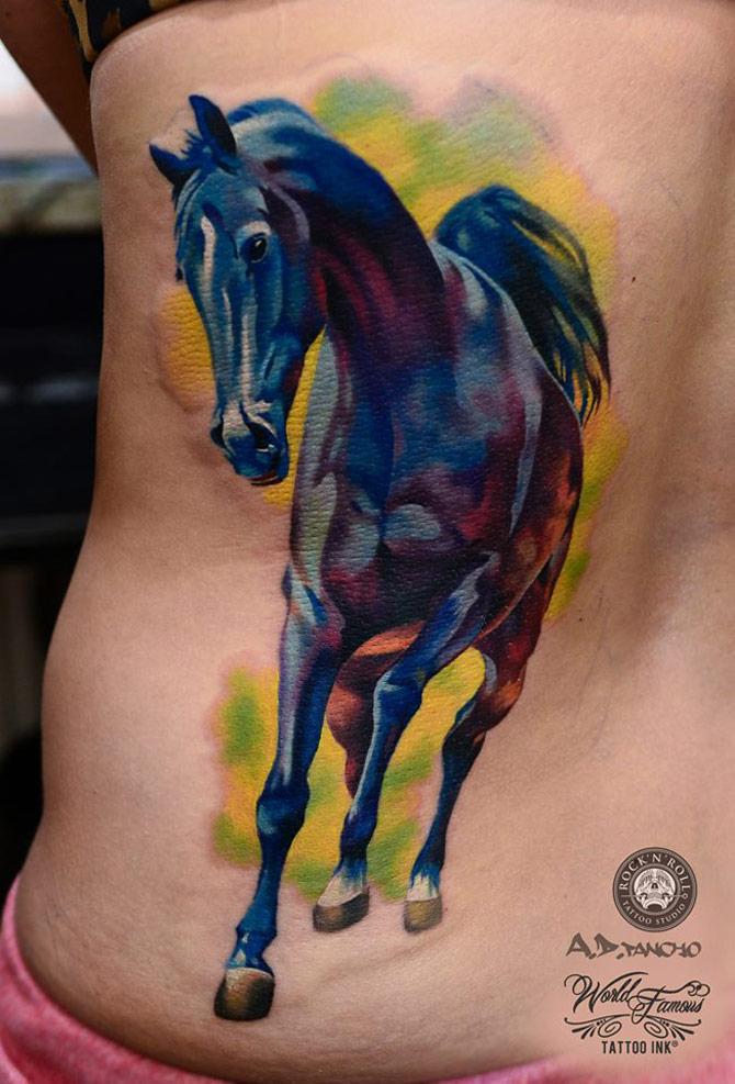 Horse Back Tattoo