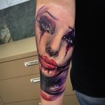 Joker Girl Tattoo