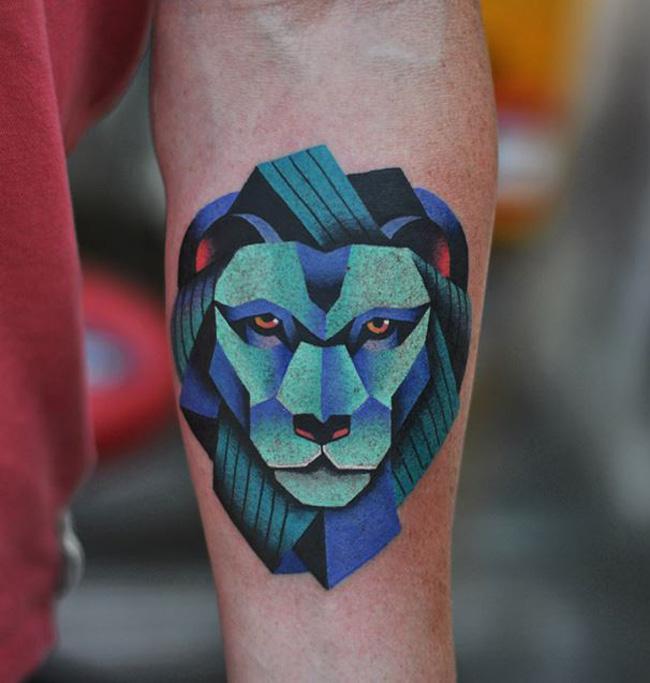 Lion Forearm Tattoo