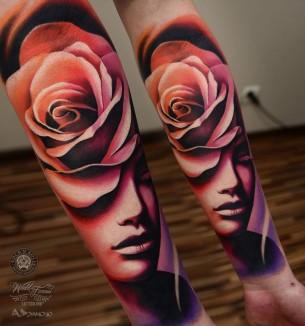 Rose & Face
