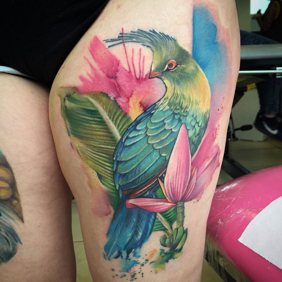 Schalow's Turaco Bird Tattoo | Best tattoo design ideas