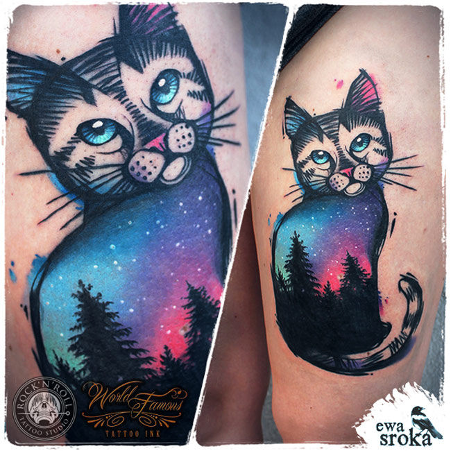 Sky Cat Tattoo