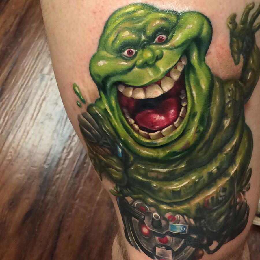 Slimer Ghostbusters Tattoo