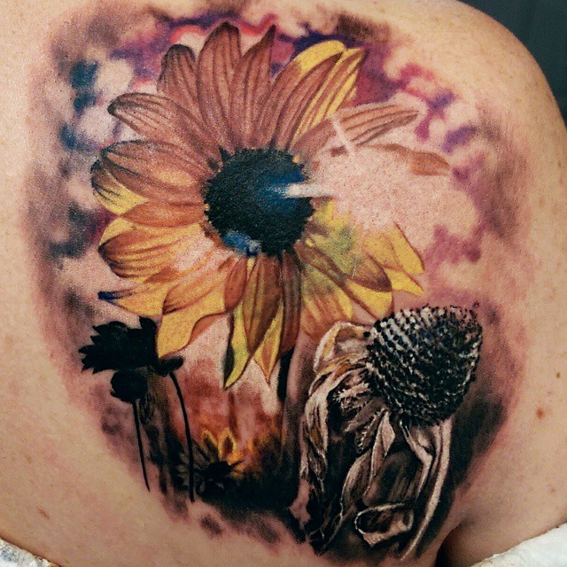 Sunflower Helianthus Tattoo