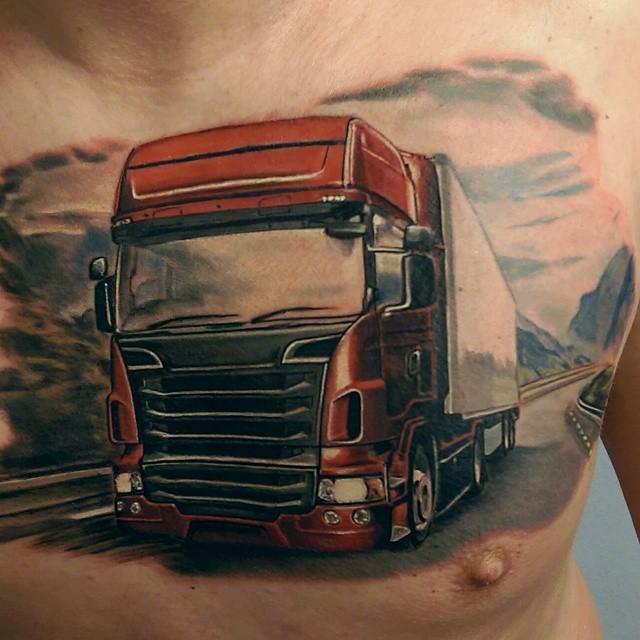 Truck Chest Tattoo