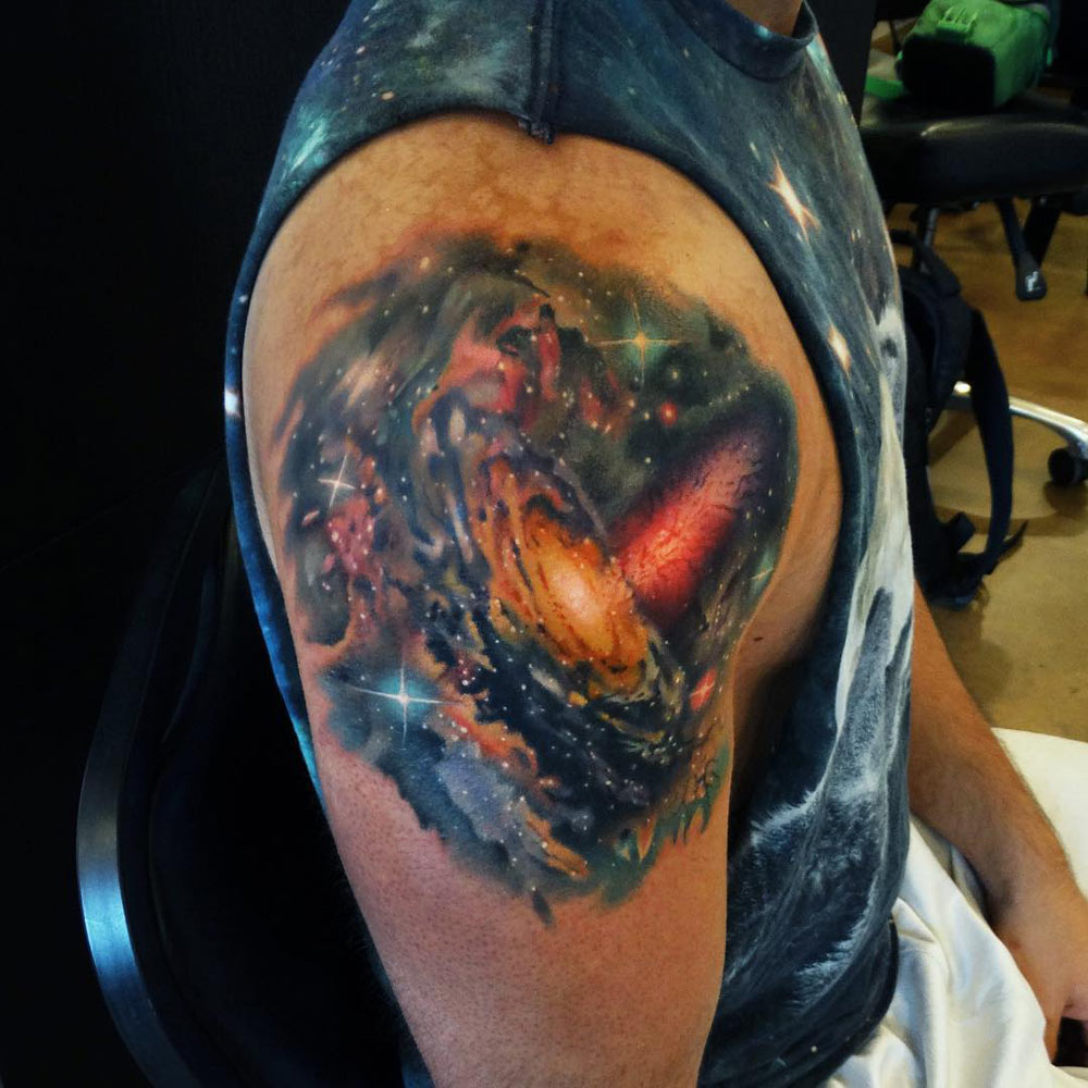 Galaxy Shoulder Tattoo