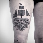 Sail Away Tattoo