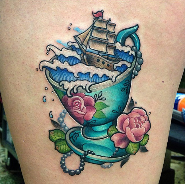 Storm in a Teacup | Best tattoo design ideas