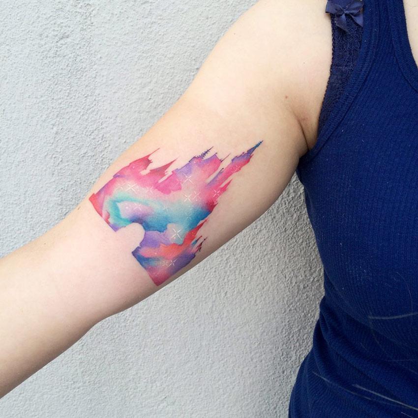a784e4bf1 Cinderella Castle Watercolor Tattoo | Best tattoo design ideas