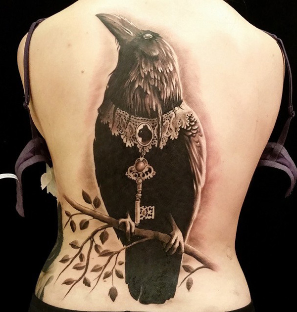 Fancy raven best tattoo design ideas for Raven bird tattoo
