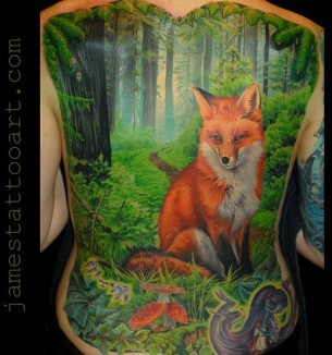 Fox & Woodlands Scene
