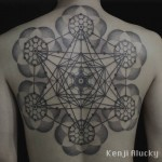 Geometric Back Tattoo