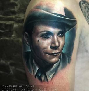 Hank Williams Portrait Tattoo