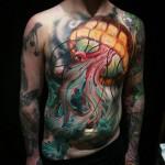 Jellyfish Front Tattoo