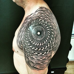 Trippy Optical Illusion Tattoo