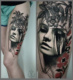 Portrait & Flowers