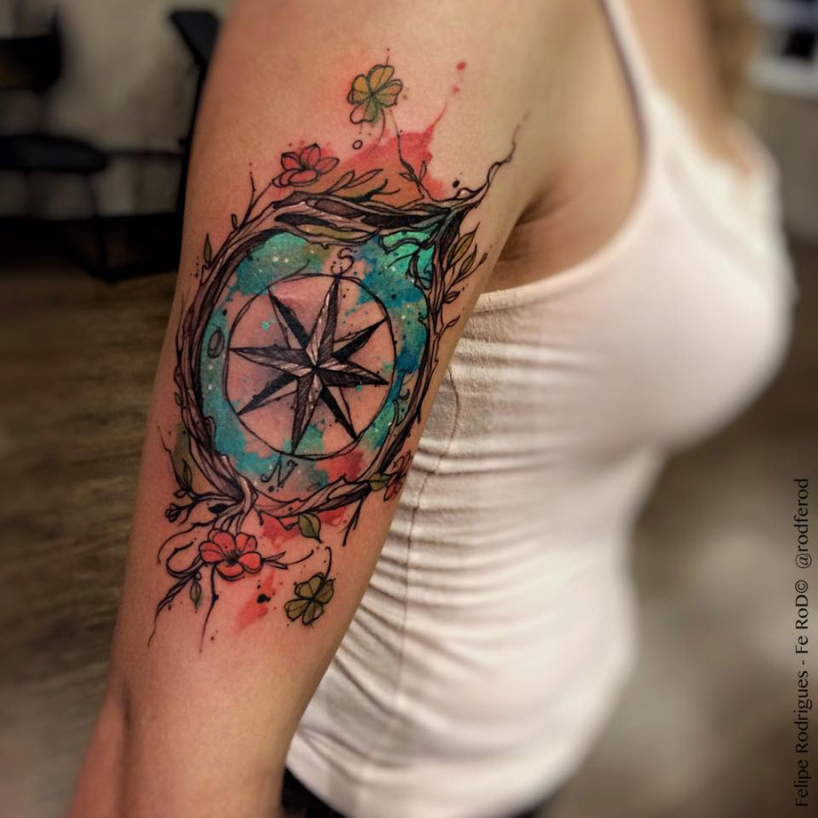 dbe7a59de Watercolor Compass | Best tattoo design ideas