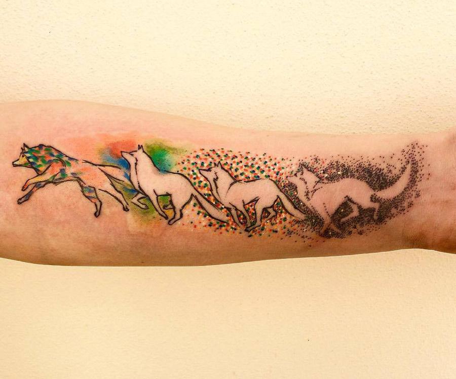 Wolf Movement Tattoo