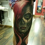 Day of the Dead Leg Tattoo