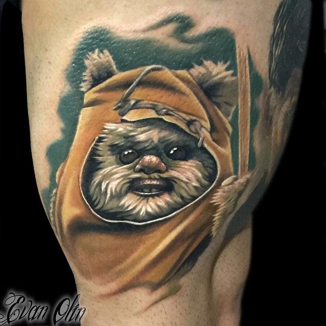 Ewok Star Wars Tattoo