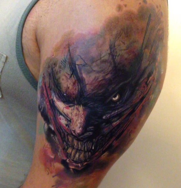 evil joker arm piece best tattoo design ideas rh tattoo ideas com evil jester tattoo designs Evil Skull Tattoos