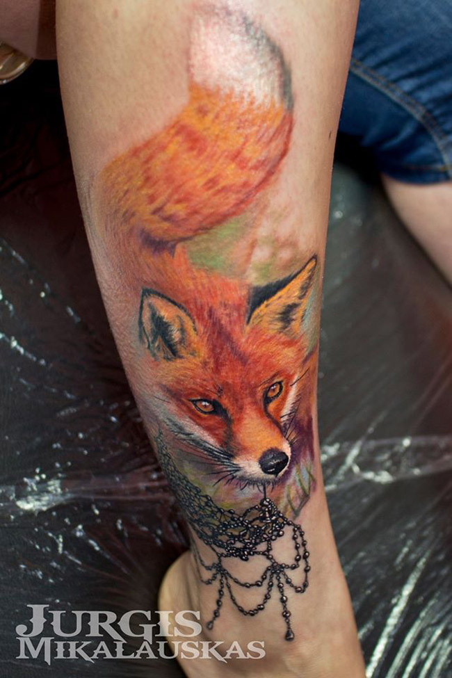 Fox Leg Tattoo