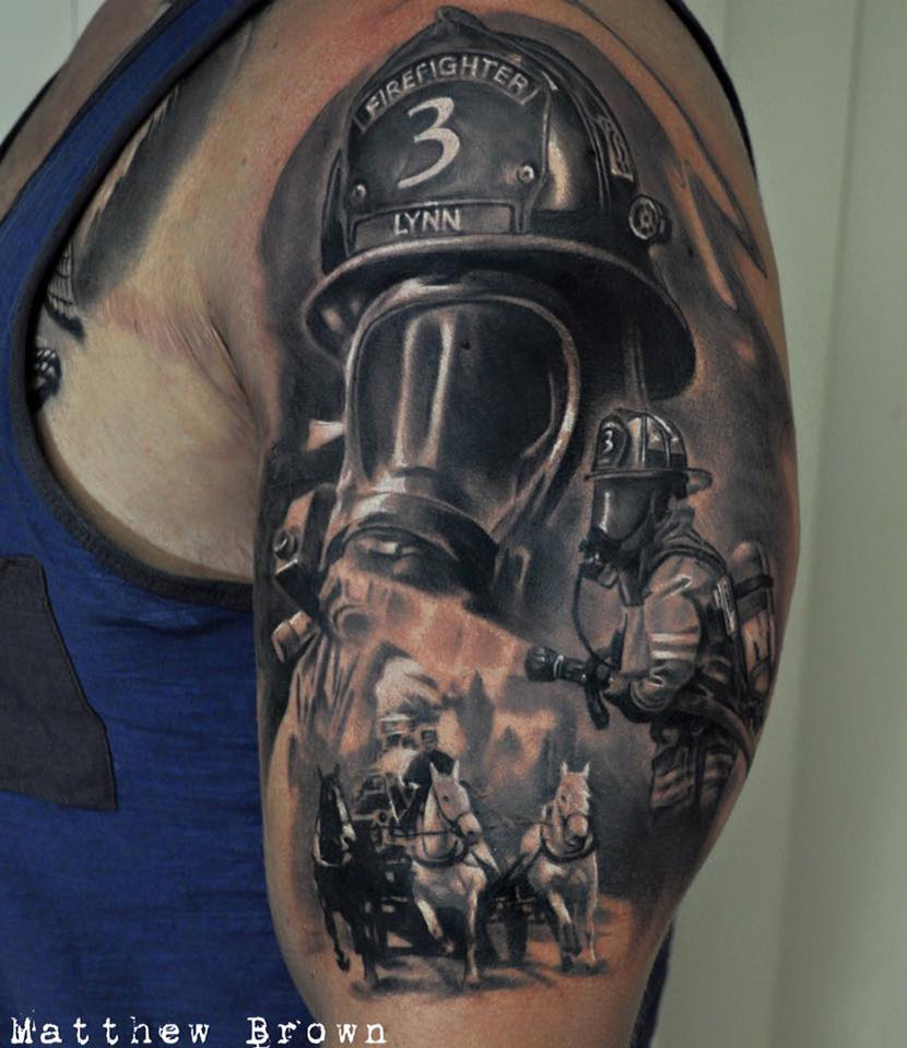 9917acc5a Firefighter Sleeve | Best tattoo design ideas