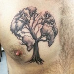 tree globe tattoo