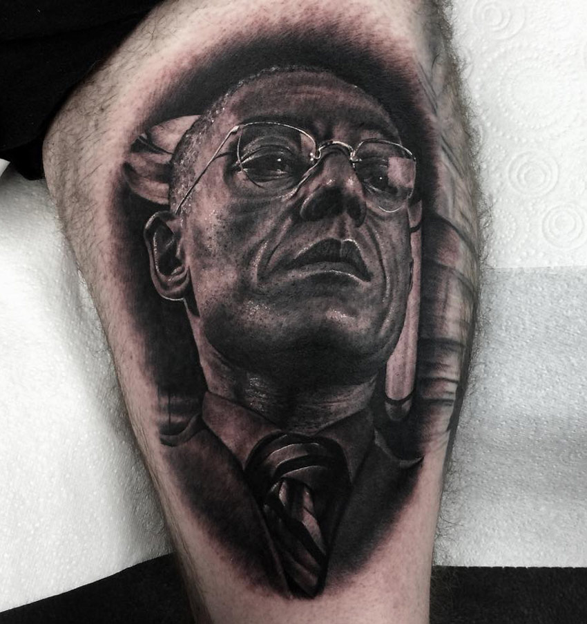 gus fring from breaking bad best tattoo design ideas. Black Bedroom Furniture Sets. Home Design Ideas